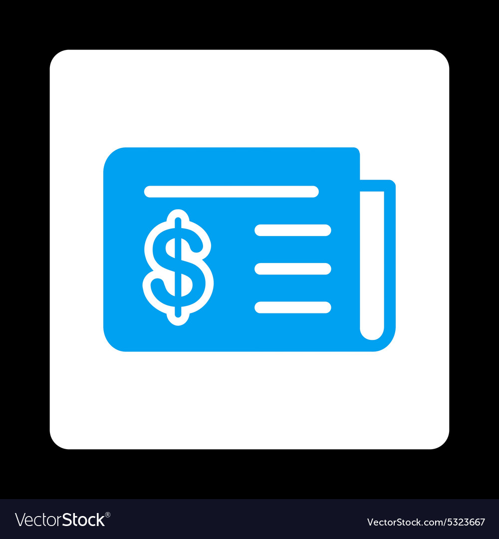 Financial news icon from commerce buttons vector