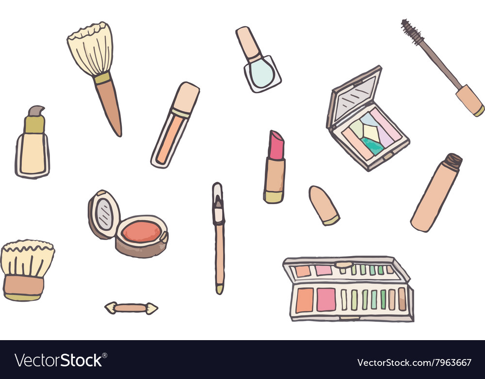Makeup set vector