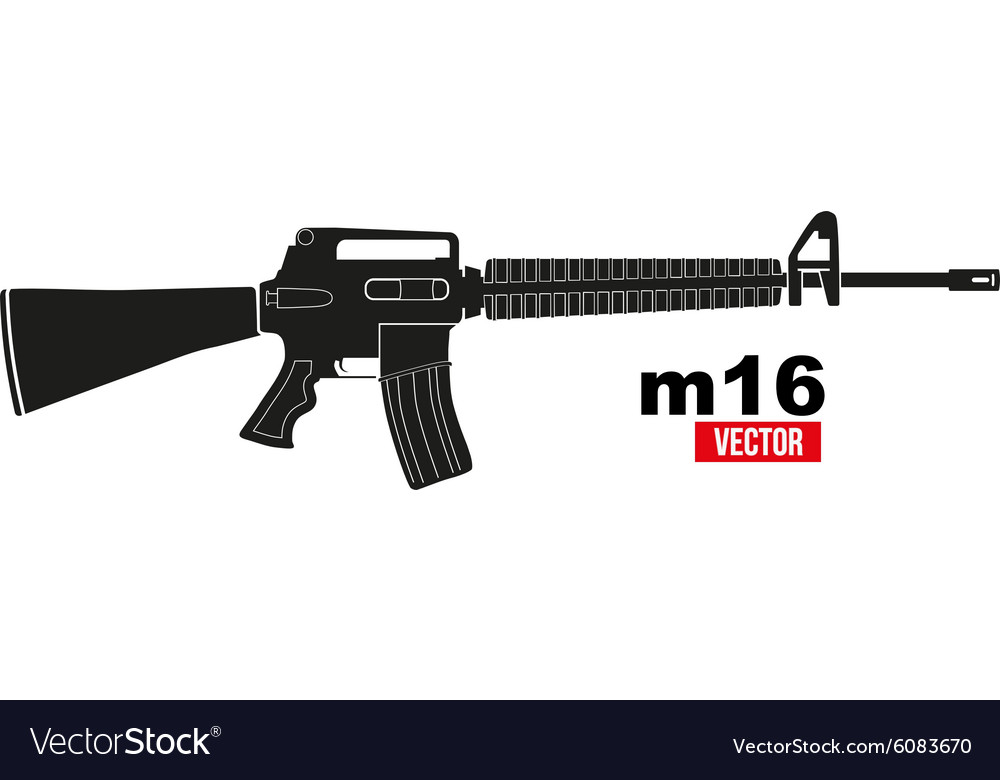 M16 rifle vector