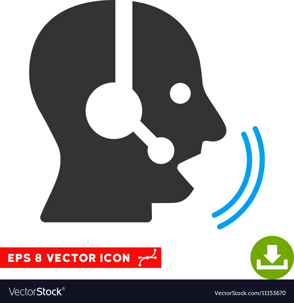 Operator speech eps icon vector