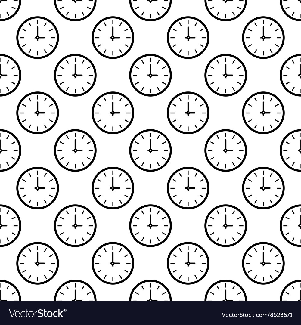 Clock pattern seamless vector