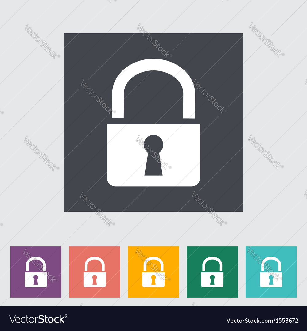 Lock single icon vector