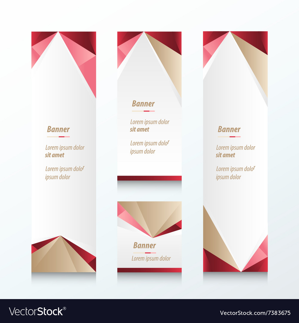 Abstract triangle vertical banner vector