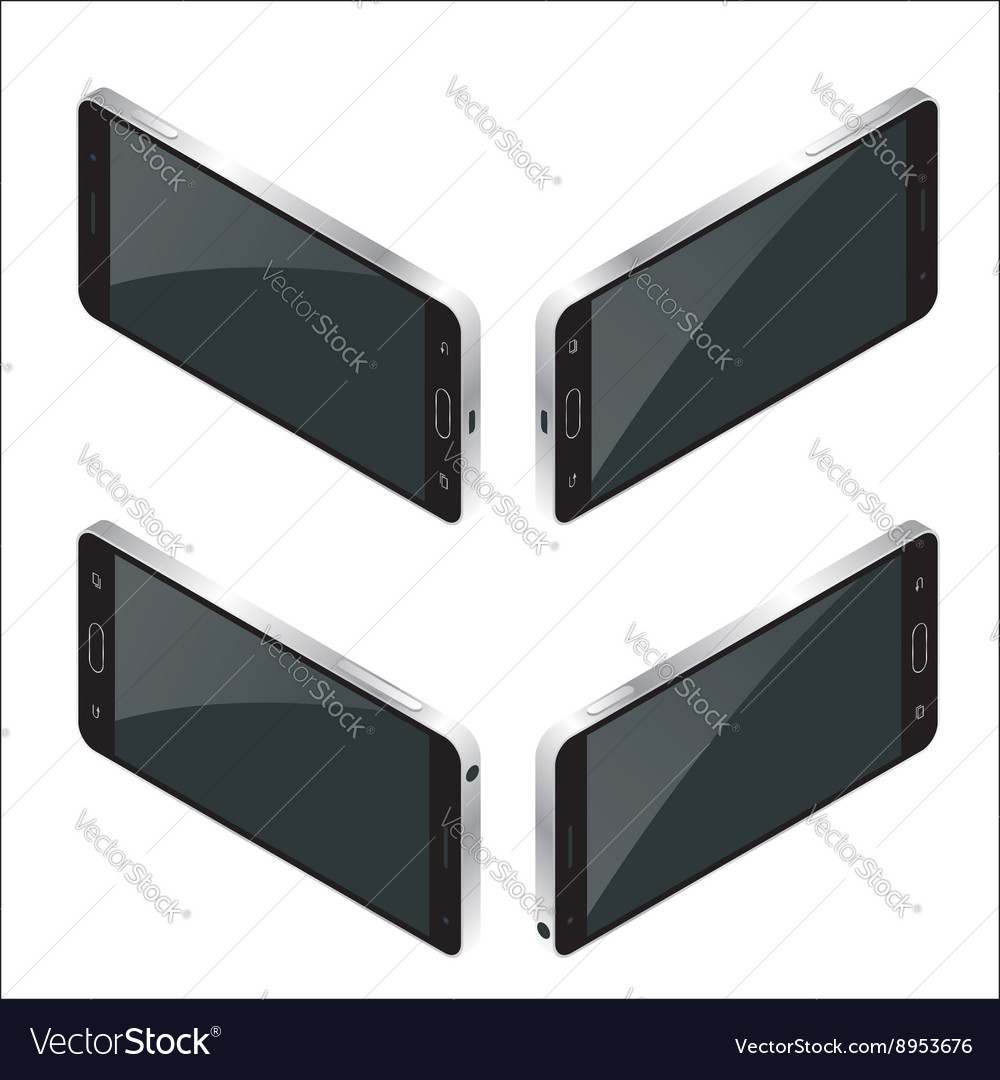 New realistic mobile phone smartphone collection vector