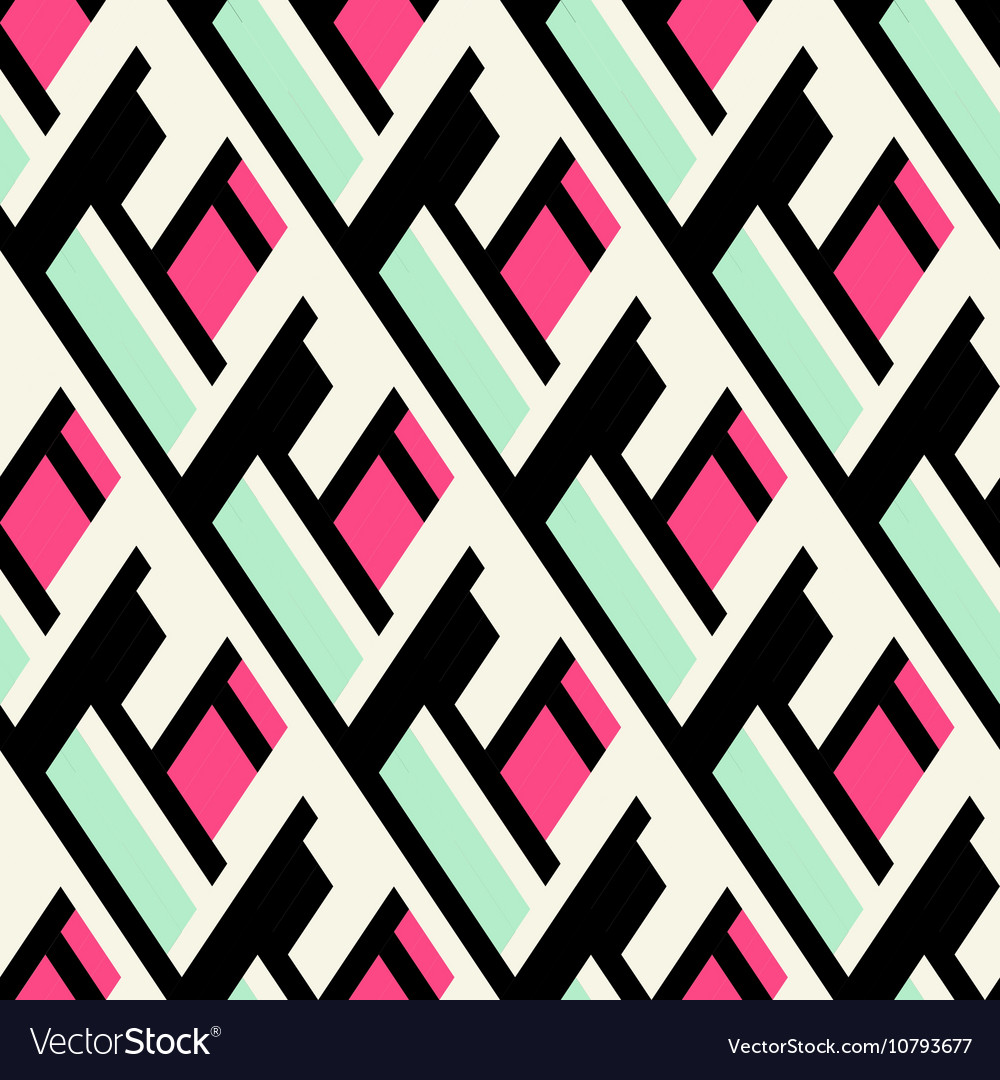 Color blocked bold pattern vector