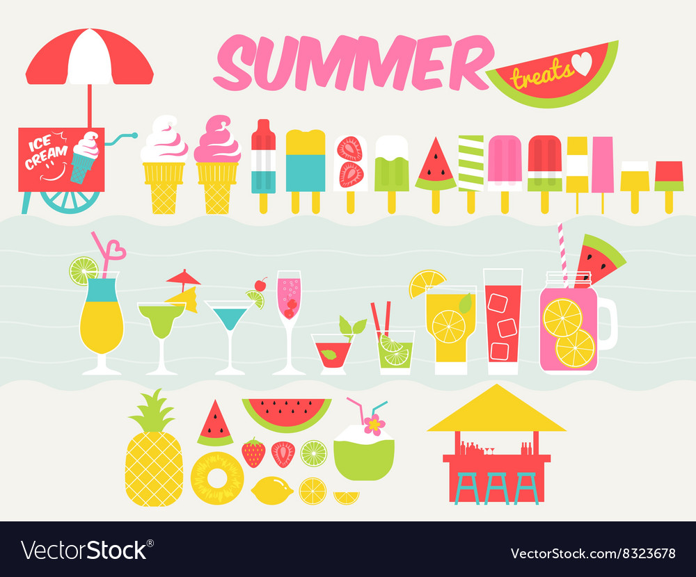 Summer treats vector