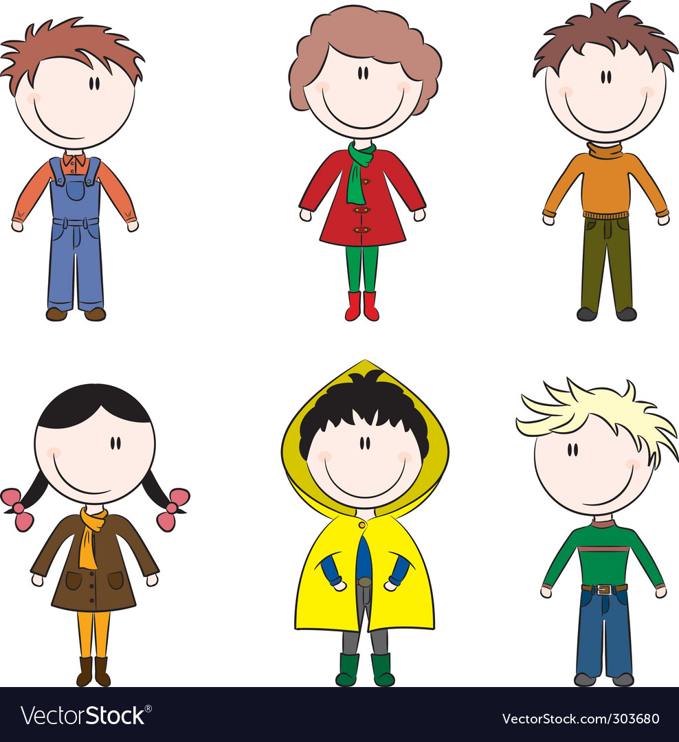 Cartoon kids vector