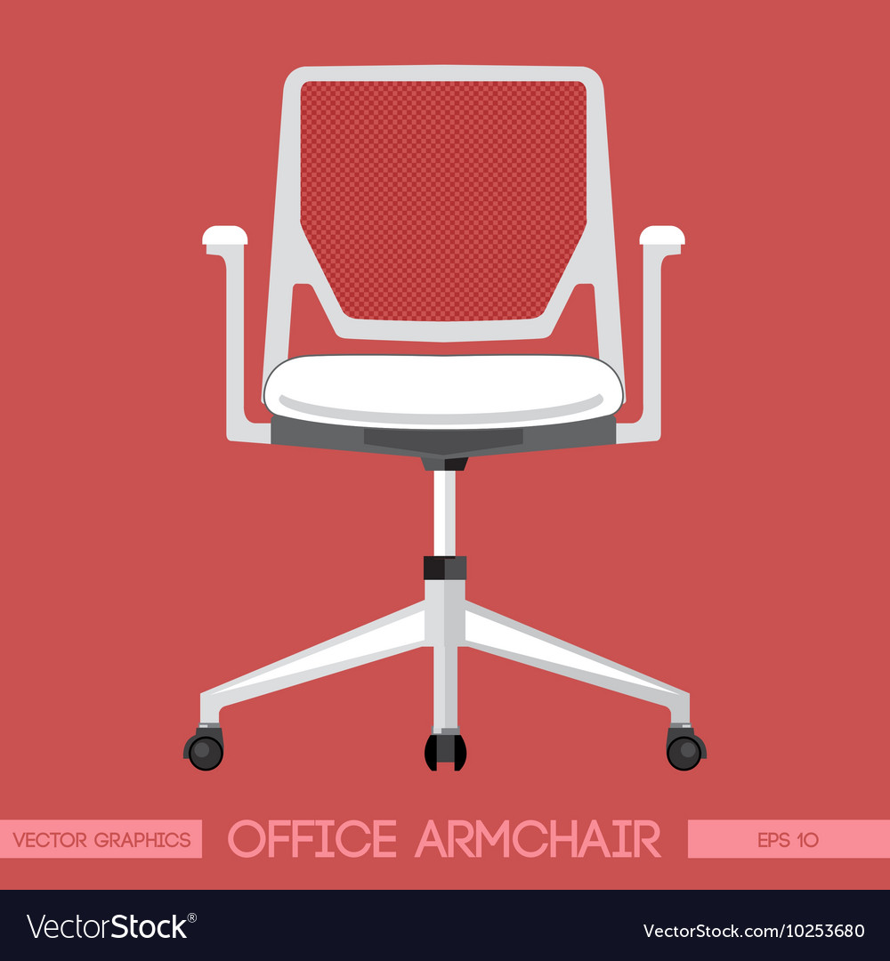 White modern office armchair over red background d vector