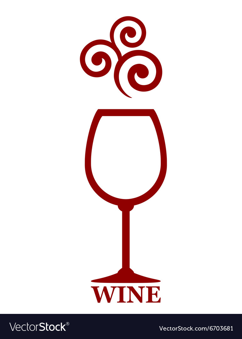 Wine goblet with decor vector