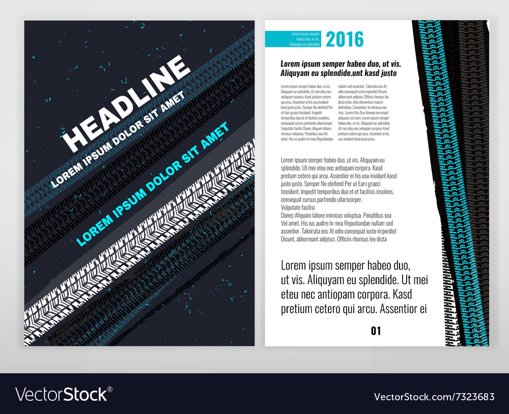Grunge tire brochure vector