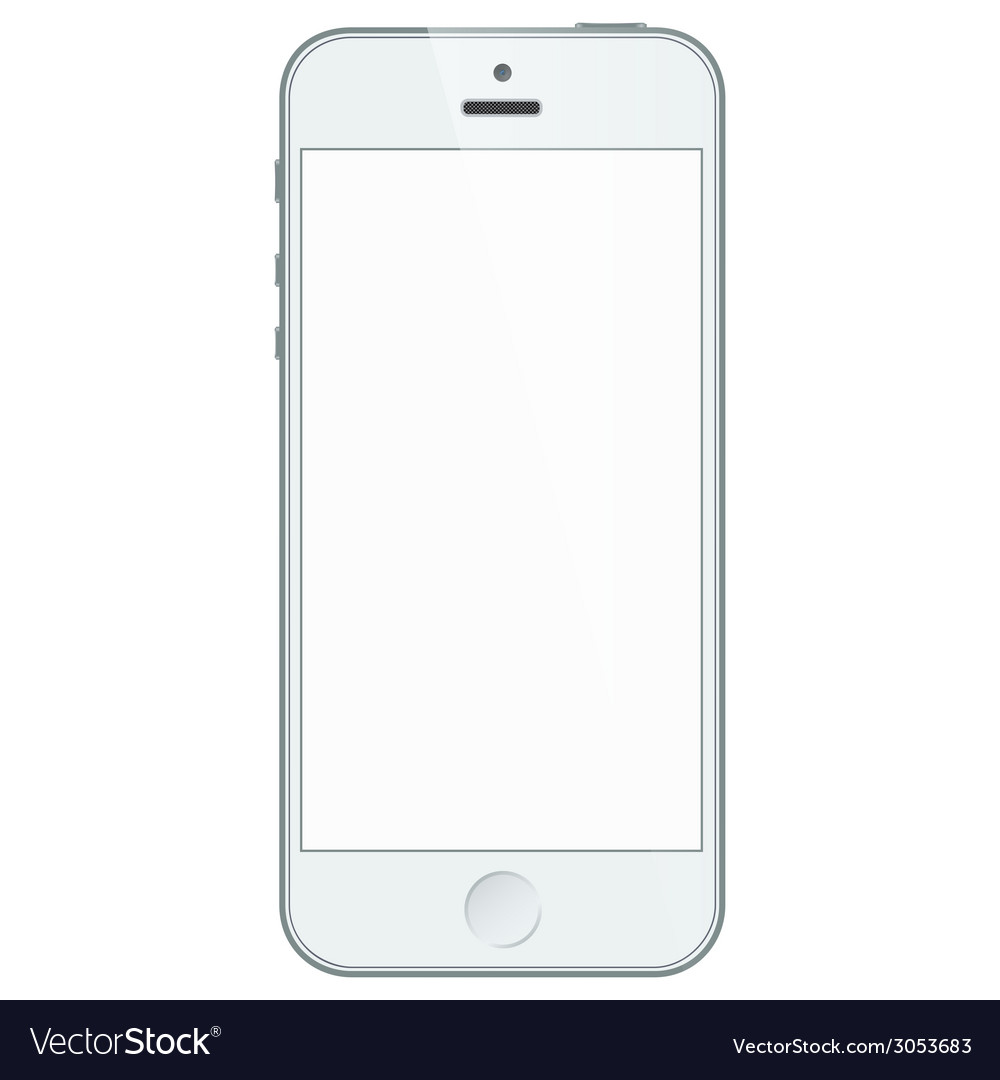 Realistic white iphone 5s with blank screen vector