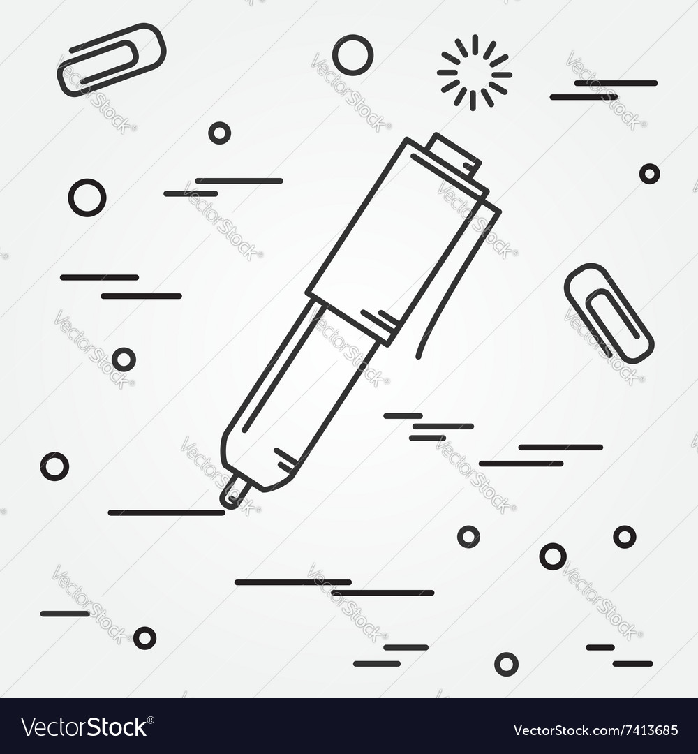 Ball pen isolated iconball pen isolated icon ball vector