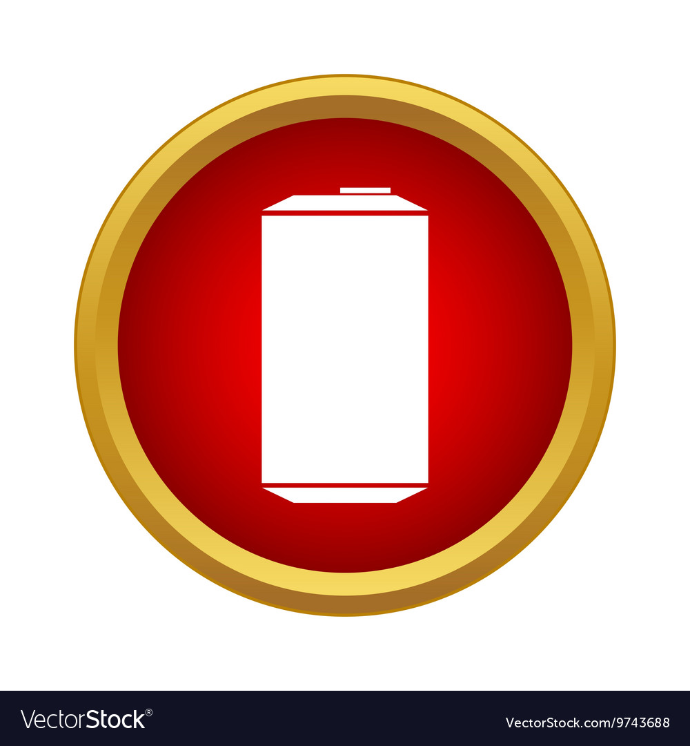 Aluminum can icon in simple style vector