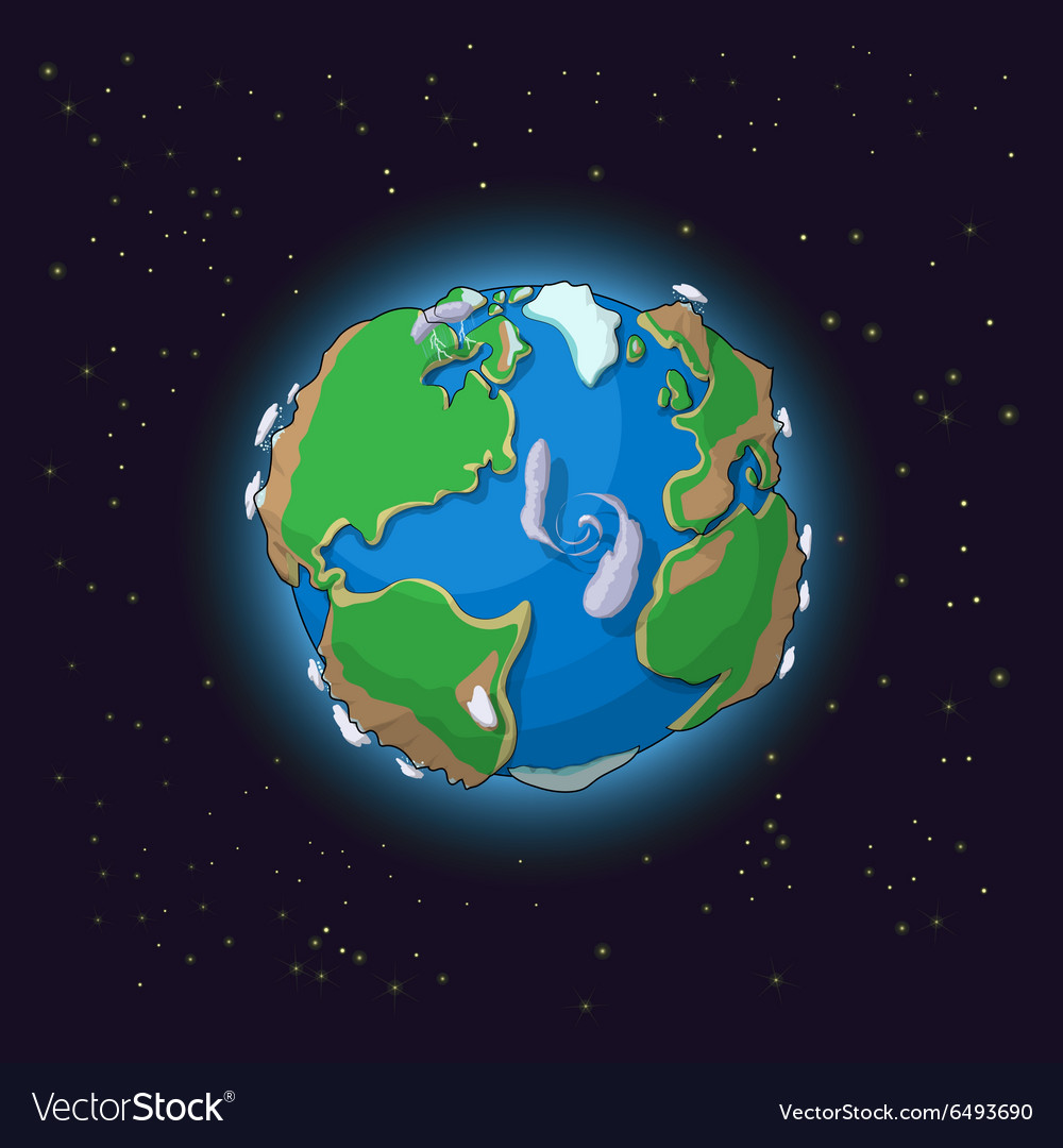 Cartoon earth concept vector