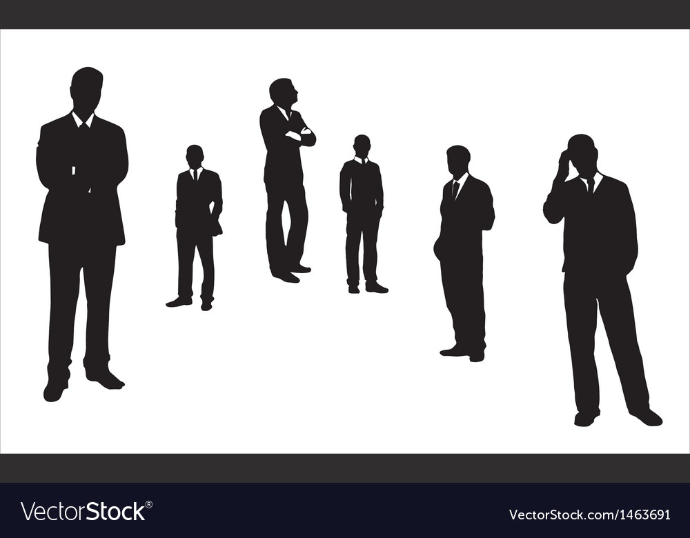 Men thinking in different postures vector