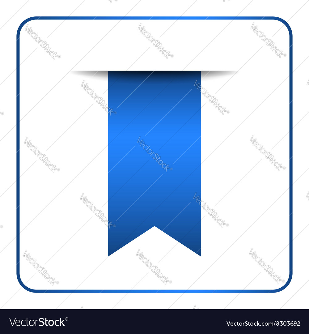 Blue bookmark banner 1 vector