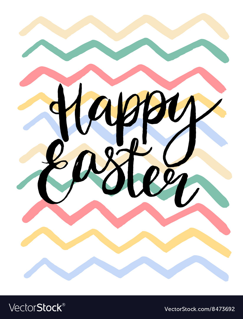 Happy easter cards with font vector