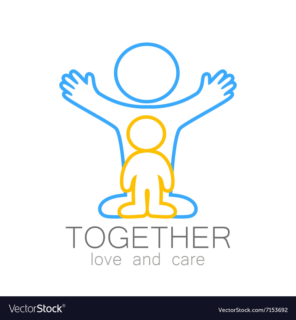 Together love care logo vector