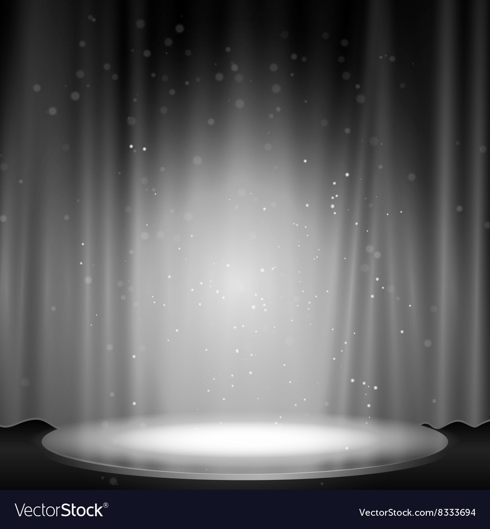 Stage with spotlight vector