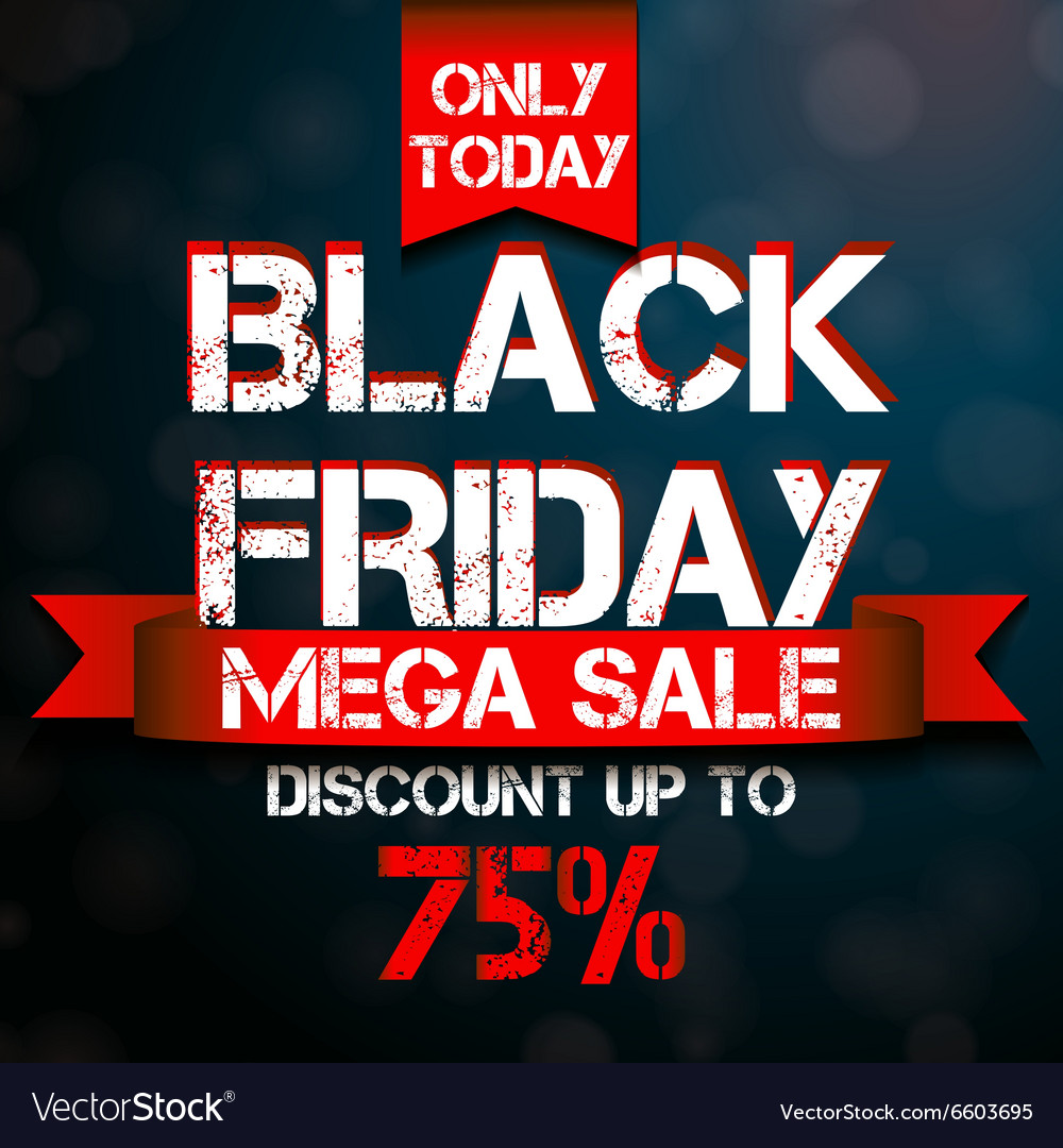 Black friday mega sale design template vector