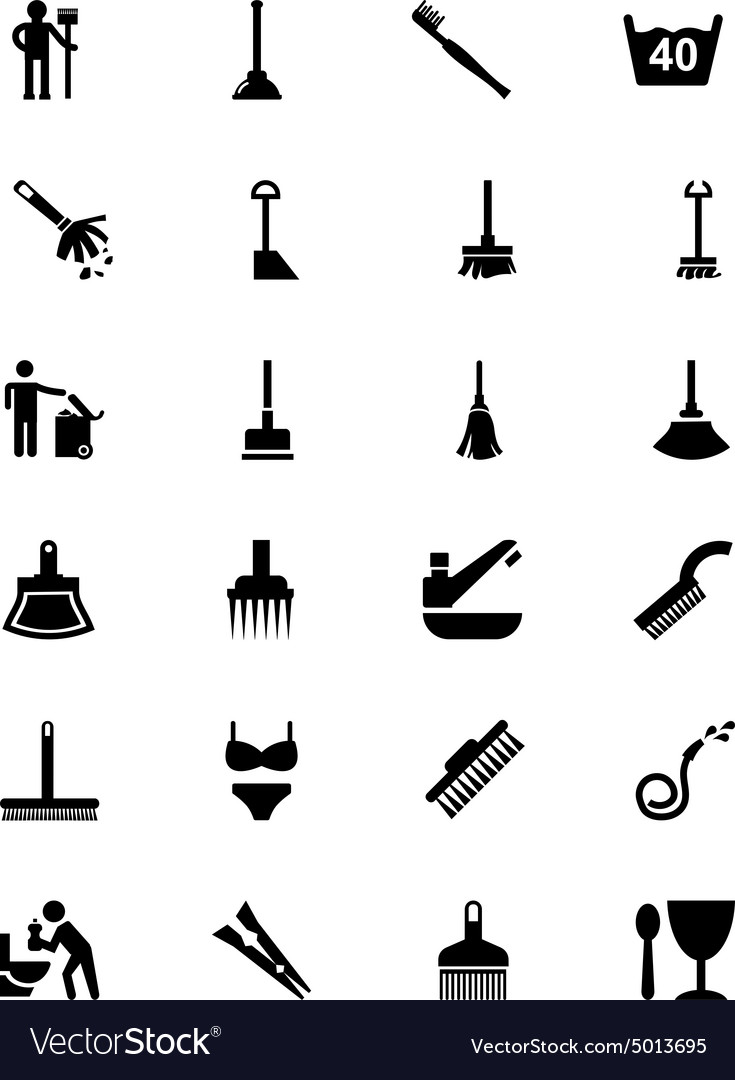 Cleaning icons 3 vector