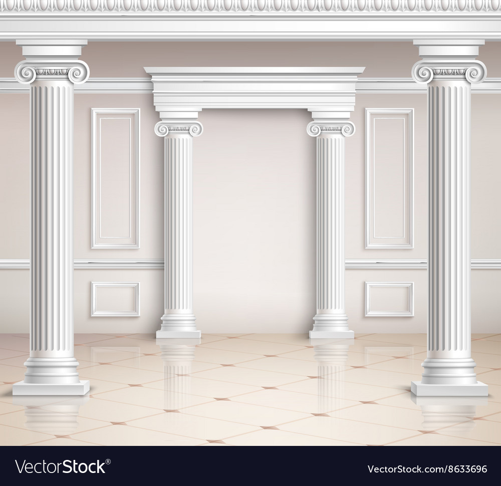 Classic hall design vector