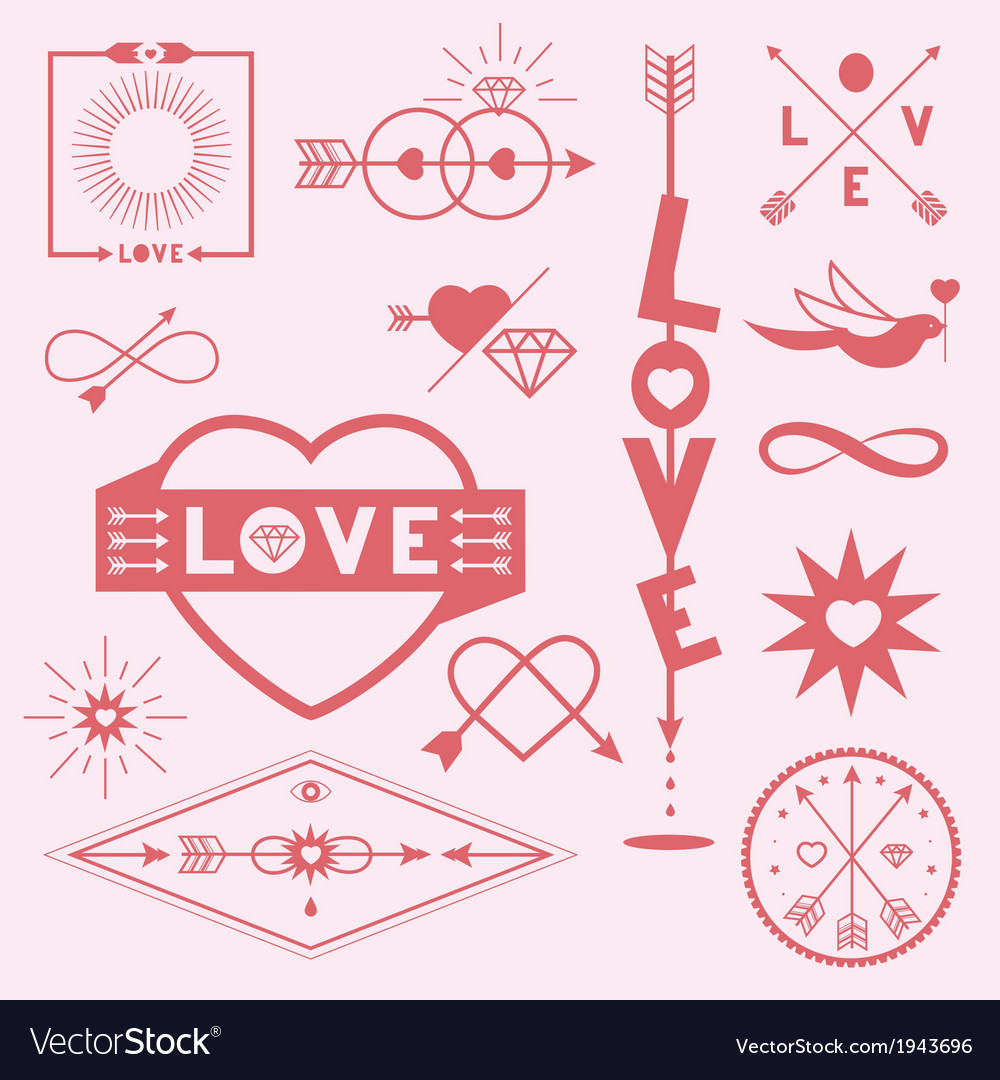 Love graphic symbols vector