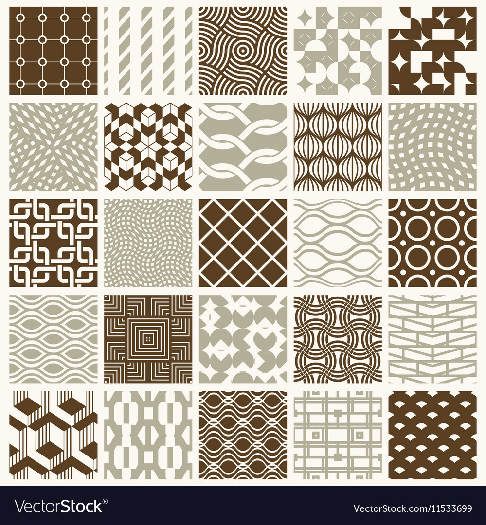 Graphic vintage textures created with squares vector