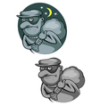 Thief bandit in mask for criminal and law concept vector image vector image