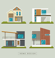 Home exterior design collections vector image vector image