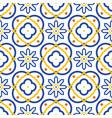 azulejos blue and white mediterranean seamless vector image