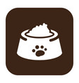 flat color dog food icon vector image vector image