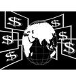 Dollar flying vector image