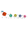 Funny Toy Blocks Walking in a Row vector image