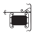 Blank sign board2 vector image