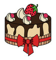 delicious cake bakery icon vector image