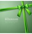 Elegant background with green bow vector image