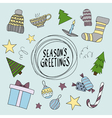 Merry Christmas card Seasons greetings vector image