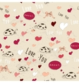 Seamless texture with love elements vector image
