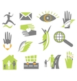 Set creative icon vector image