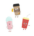 set of funny characters from drink vector image