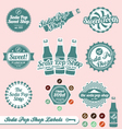Vintage Soda Pop Labels and Stickers vector image vector image