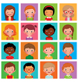 Set avatars boys and girls vector image vector image