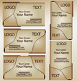 business card template set 4 vector image vector image