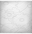 Blueprint of cogwheels Engineer and architect vector image