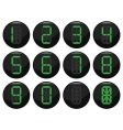 digital number icons vector image vector image