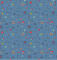 a set of geometric elements seamless pattern of vector image