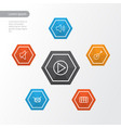 audio outline icons set collection of keys vector image