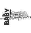 Babycity baby clothes and baby gifts online text vector image