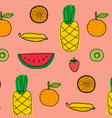 background with fruits pattern vector image